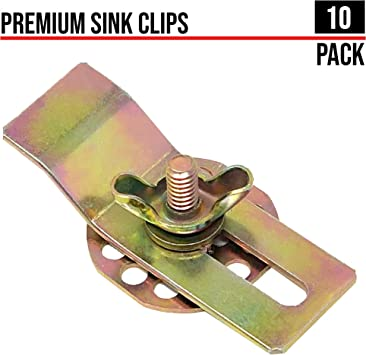 Artisan Adhesive Sink Clips 10 Pack Undermount Sink Clips Sink Brackets Bathroom Sink Clips Kitchen Sink Clips Epoxy Sink Clips Amazon Co Uk Diy Tools