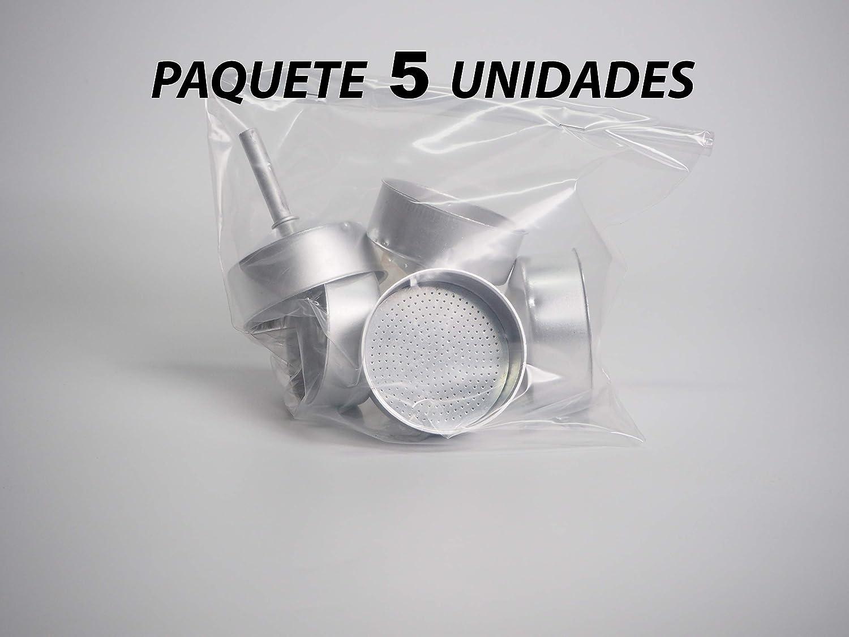 Sanfor 71035 Paquete 5 embudo cafetera aluminio O.L. 12 tazas ...