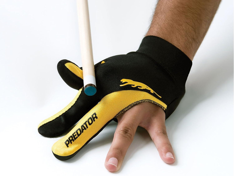 Predator Guante para billar de 3 dedos, talla L-XL, color negro y ...