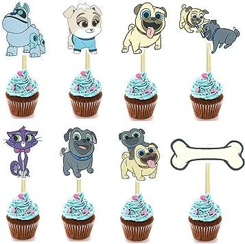 Amazon.com: 24 piezas de decoración para tartas de cachorros ...