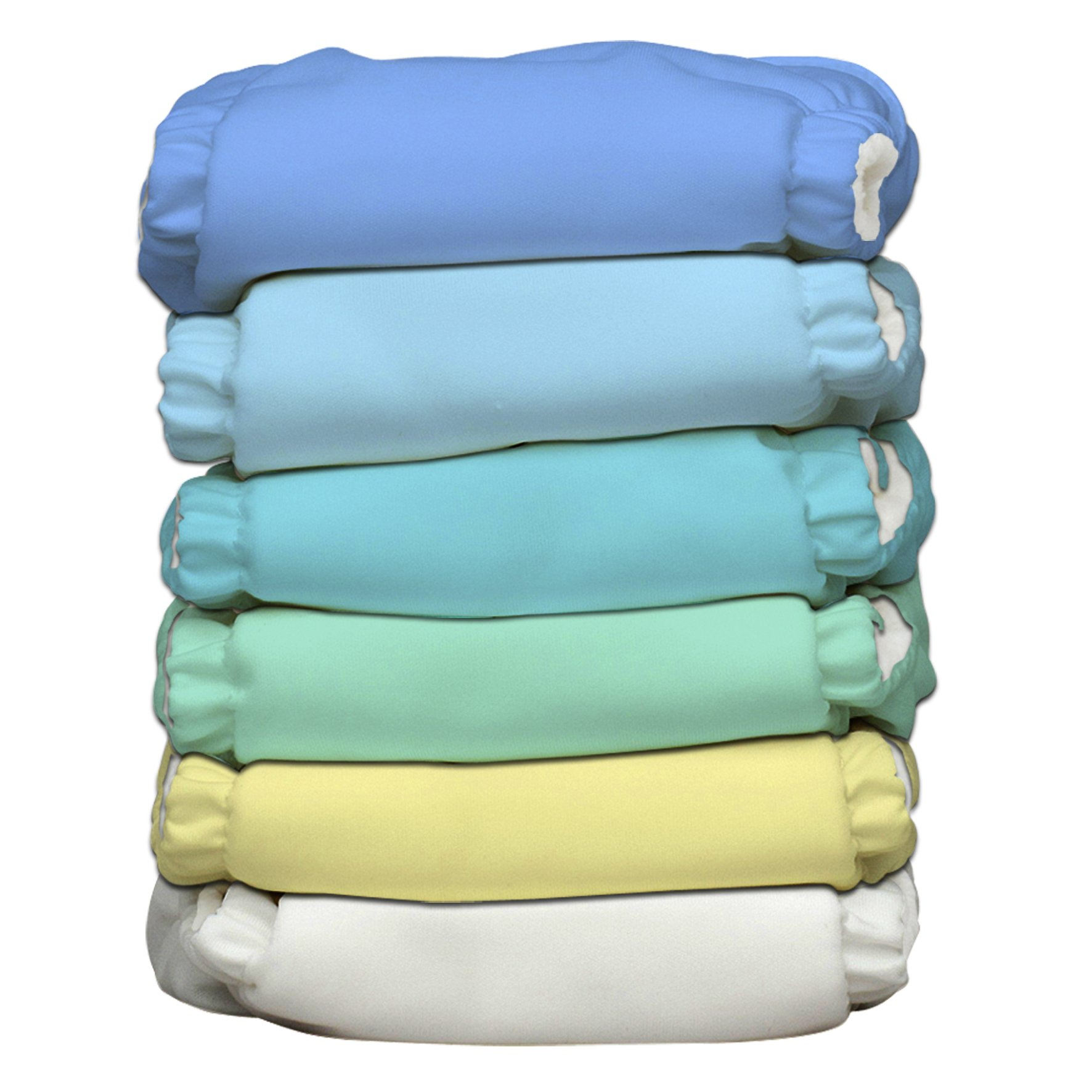 Charlie Banana 2-in-1 6-Piece Reusable Diapers, Unisex Pastel