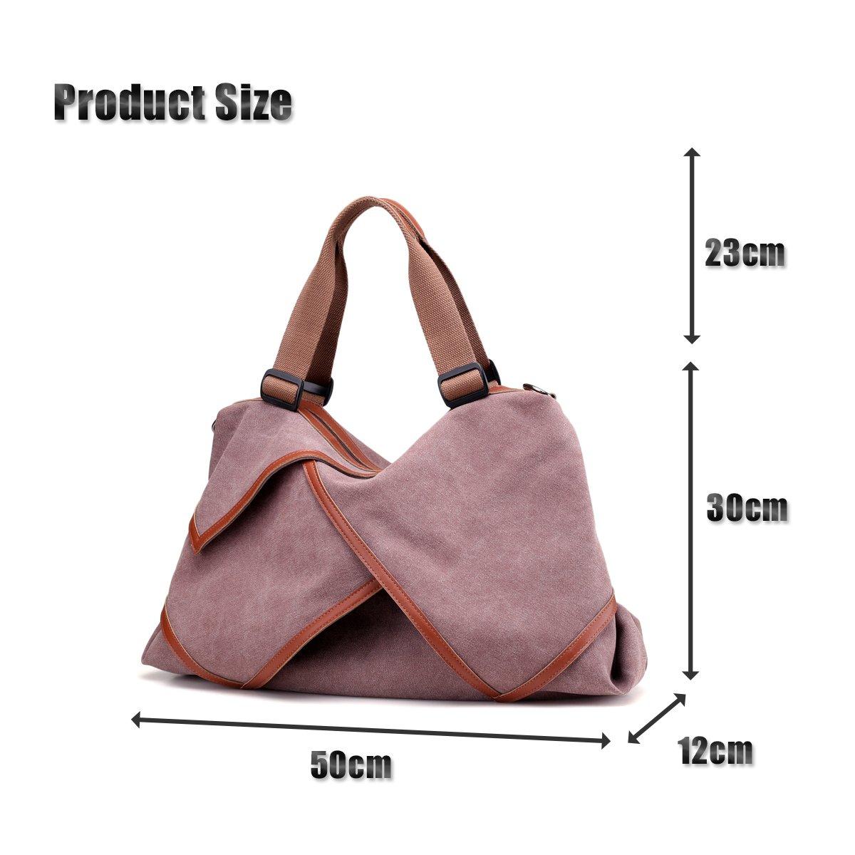 78223d82e19 LOSMILE Women s handbag Canvas Shoulder Bag Large Hobo Tote Bags Ladies Top-Handle  Casual Beach Holiday Weekend Bags. (Purple)  Amazon.co.uk  Shoes   Bags