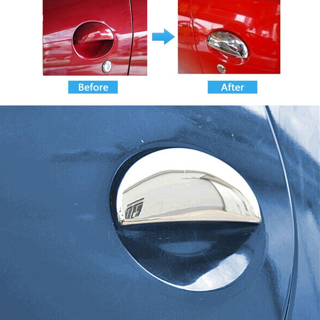 sadapter pour 206//206cc Chrome Poign/ée de porte Covers Trim 4/pcs gauche droite NEUF