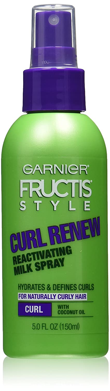 Garnier Fructis Style Curl Renew Reactivating Milk Spray, For Curly Hair, 5 oz. (Packaging May Vary) Garnier - Hair Care