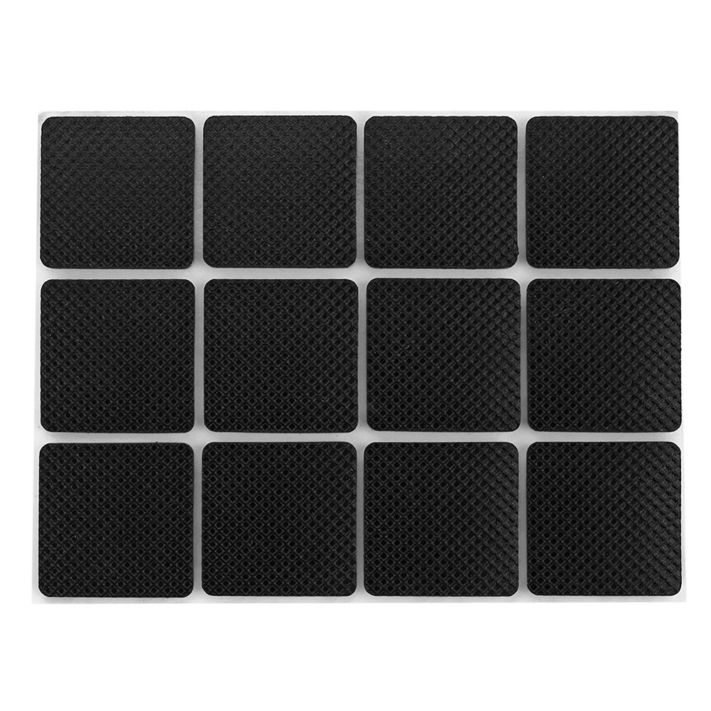 Shintop Non Slip Furniture Pad,Lightweight Self-Stick Silicone Anti-Skid Pad 48 Piece Value Pack Furniture and Floor Protectors Square