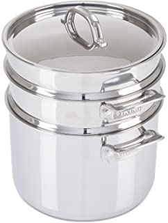 Viking 3 Ply Stainless Steel Pasta Pot With Steamer, 8 Quart