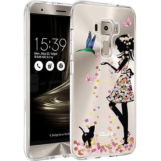 9 opinioni per Asus Zenfone 3 ZE520KL Custodia Cover, WenJie Principessa Silicone Case TPU