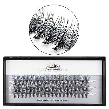 95022886622 Amazon.com : LASHVIEW 0.10mm 20 Root 14mm Medium Length Soft Individual  Cluster Eyelashes Mink Fake Eyelashes Extension Handmade Grafting False  Eyelashes ...