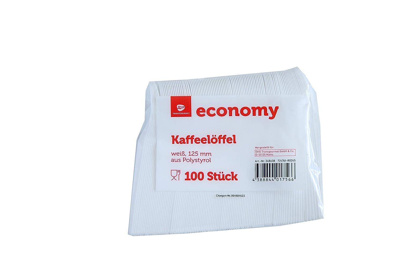 Dessertlöffel weiß Einweg 20 x 100 Löffel Kaffeelöffel Plastik 11cm