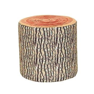 Amazon.com: Taburete tapizado de madera con forma de tumbona ...