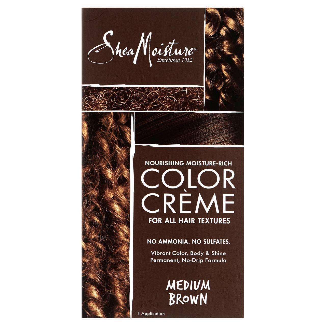 Amazon Shea Moisture Certified Organic Medium Brown Hair Color