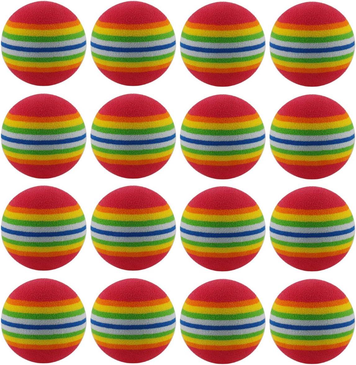 DGZZI Sponge Golf Ball 16PCS 42mm EVA Foam Rainbow Practice Golf Balls Training Soft Balls
