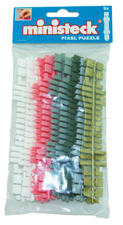 9.500 Teile Farbstreifen-Sortiment ca Ministeck 31661