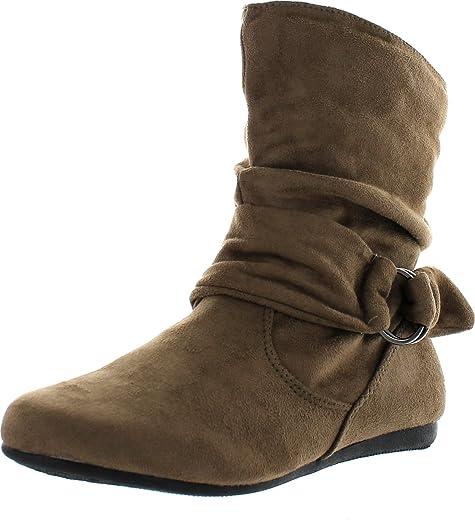 """أحذية Coshare نسائية عصرية مجعدة من المعدن, (Taupe - Suede Pu 1"""" Heel/0.15"""" Platform), 38 EU"""