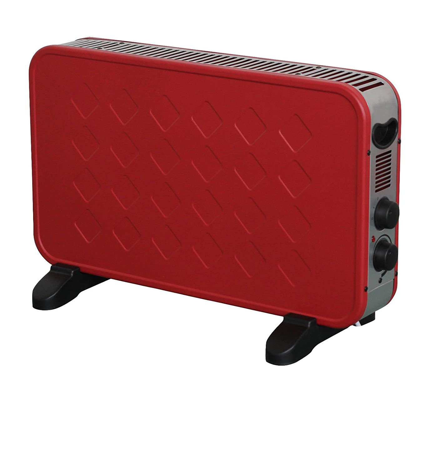 2000W PORTABLE RED ELECTRIC CONVECTOR THERMOSTAT HEATER WINTER 2KW STYLISH Sentik
