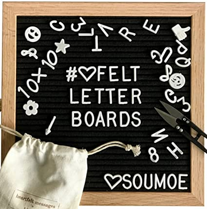 Letter Board Black Felt With 340 Changeable Letters Numbers Symbols