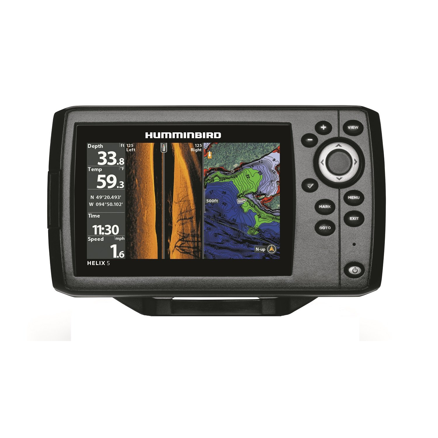 Humminbird 410230 1 helix 5 chirp si gps g2 fish finder for How to read a humminbird fish finder