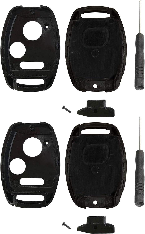 2 Key Fob Case Shell for Honda Accord Civic CR-V /& More Swap Your Original Blade