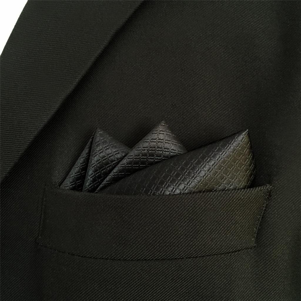Shlax/&Wing Herren Gesch/äftsanzug Seide Krawatte Einfarbig Schwarz Extra lang 63 160 cm 57.5 147 cm D/ünne 2.36 6 cm