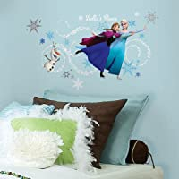 Asian Paints Nilaya Frozen Custom Headboard Featuring Elsa, Anna & Olaf Peel and Stick Giant Wall Decals