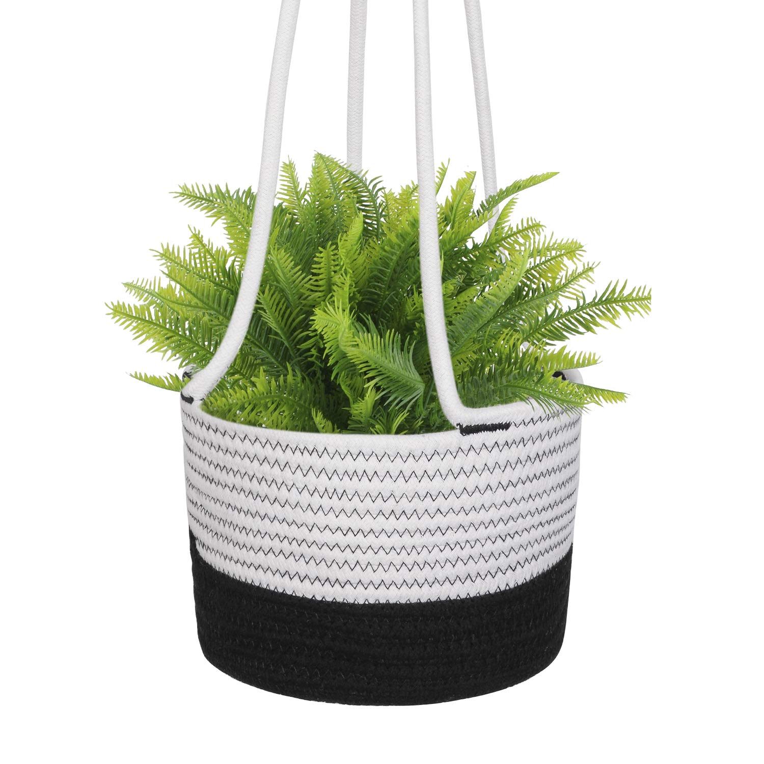 Cotton Rope Wall Hanging Planter Woven Plant Basket Indoor Up to 8 Pot Macrame Plant Hangers Modern Storage Organizer Small Home D cor