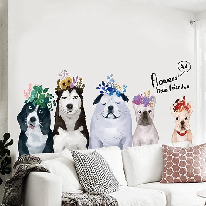 Pegatina de pared creativo perros sala de niños cabecera ...