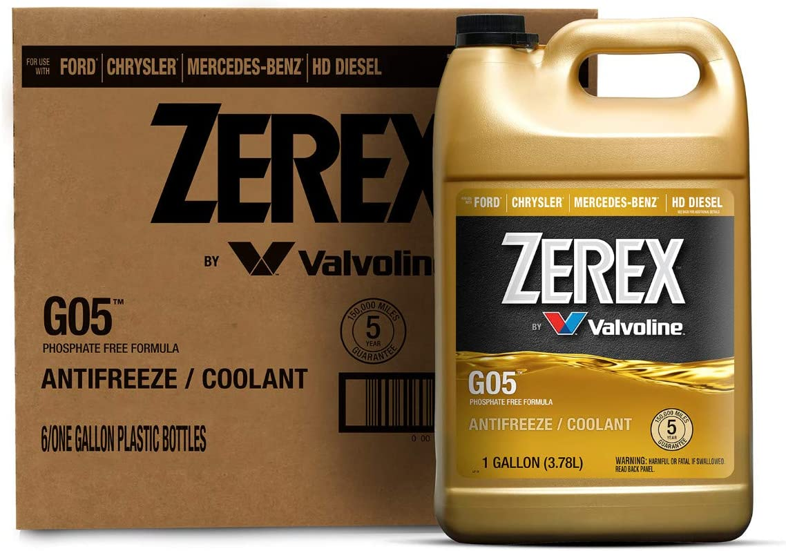 Zerex G05 Phosphate Free Antifreeze/Coolant 1 GA, Case of 6