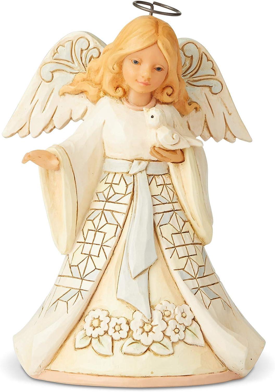 Amazon Com Enesco Jim Shore Heartwood Creek White Woodland Angel Pint Sized Figurine 5 5 Inch Multicolor Home Kitchen