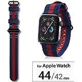 エレコム Apple Watch バンド 44mm/42mm ファブリック   レガッタストライプ AW-44BDNATSRG