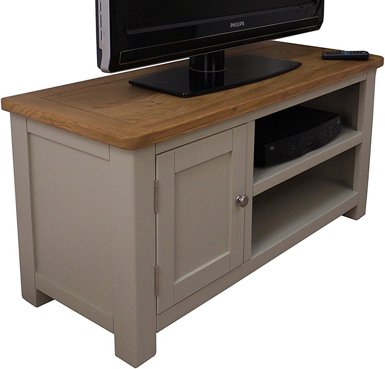 Windermere elefantes aliento pintado pequeño TV unidad de DVD/TV de Plasma soporte con armario/gris pintado a muebles: Amazon.es: Hogar
