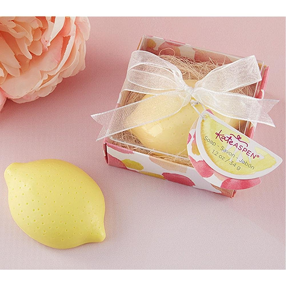 Amazon.com: Kate Aspen Lovely Lemon Soap - 10 Pack: Home & Kitchen