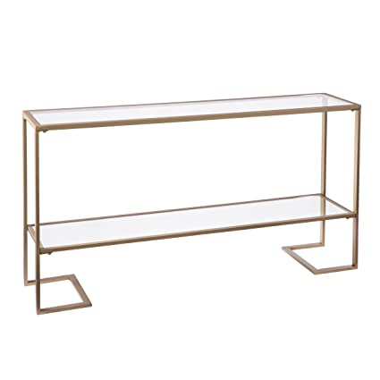 Surprising Metal Skinny Console Table Slim Profile W Mirror Top 52X29 Caraccident5 Cool Chair Designs And Ideas Caraccident5Info