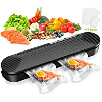 Vacuum Sealer Machine, STOON Automatic Food Sealer for Food Saver and Storage, Compact Vacuum Packing Machine with 10PCS…