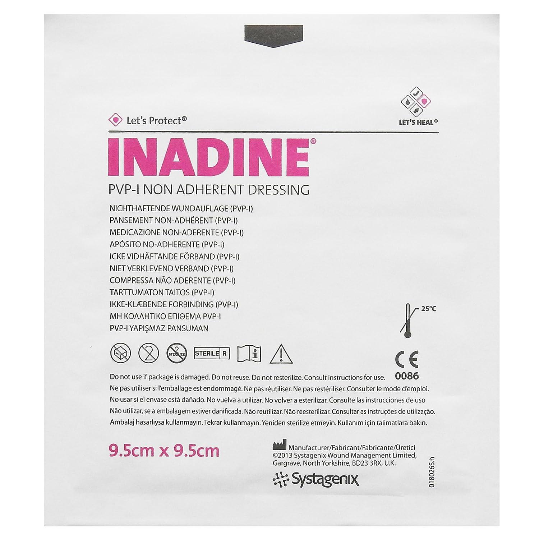 Inadine Iodine - Apósito antibacteriano para heridas estériles: Amazon.es: Salud y cuidado personal