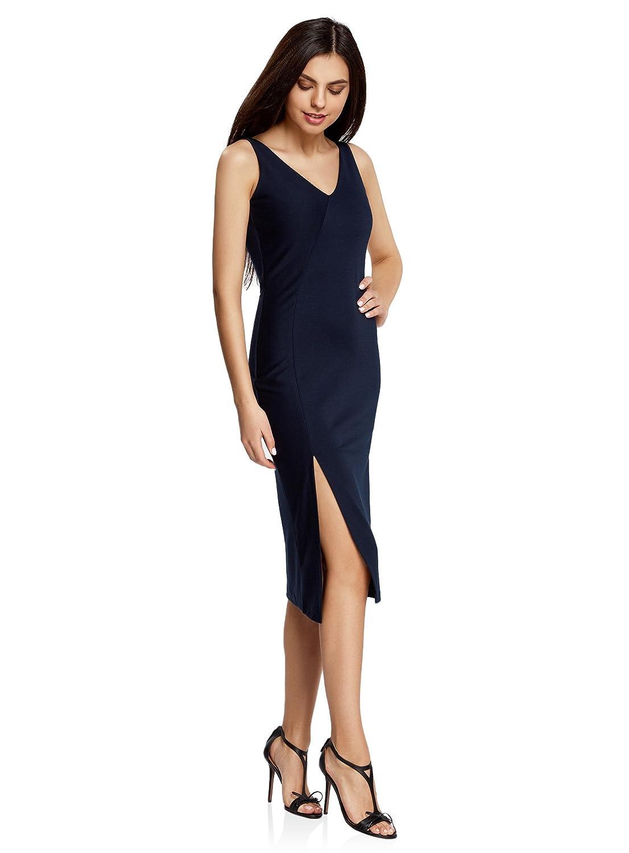 oodji Ultra Mujer Vestido de Corte Asimétrico con Abertura: Amazon.es: Ropa y accesorios