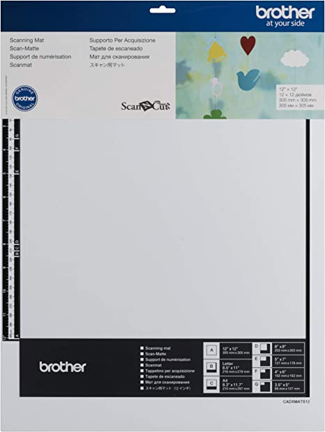 """Brother Scan N Cut or Design N Cut New MID TACK MAT 12x24/"""" Adhesive Mat Quilt..."""