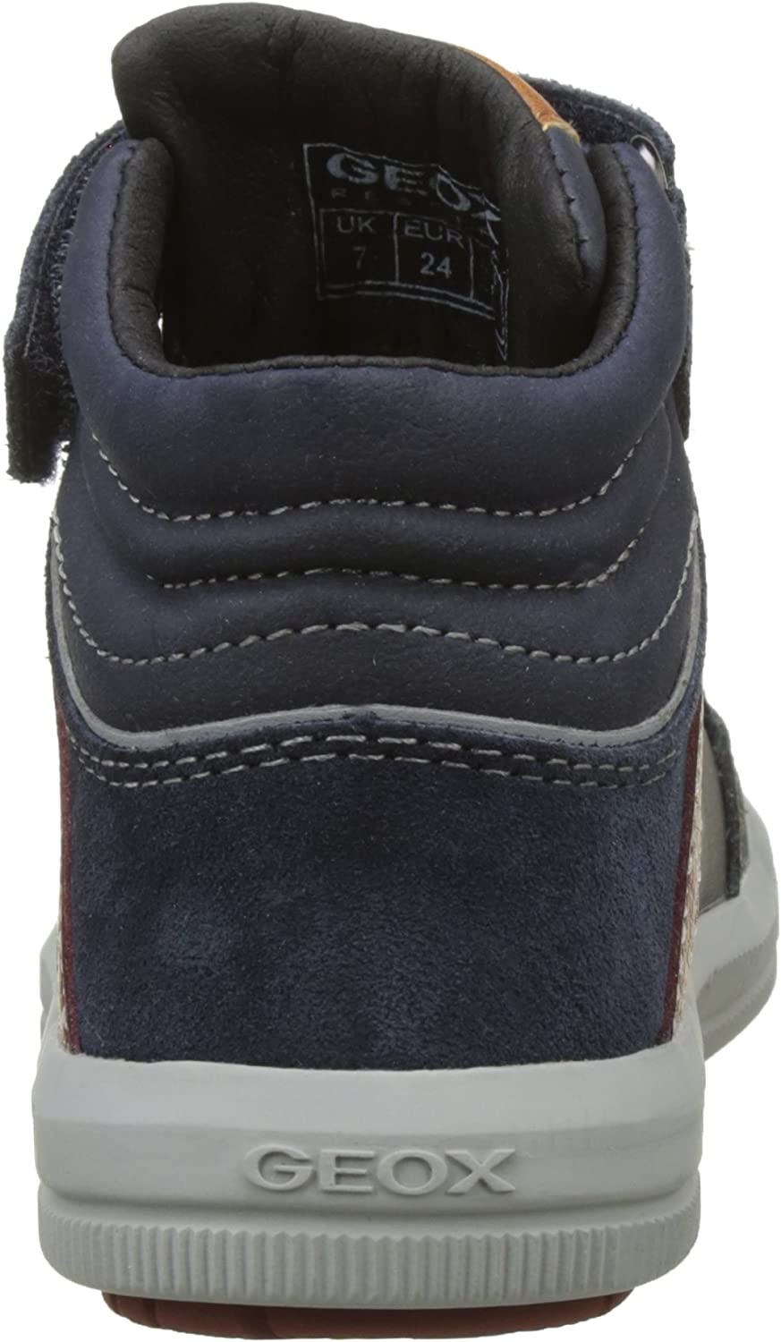 Blue Geox Boys J Arzach C Hi-Top Trainers