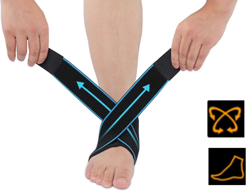 GSOTOA 1 Paio Cavigliera Sportiva Elastica Fascia Caviglia Regolabile Tutore Piede Unisex