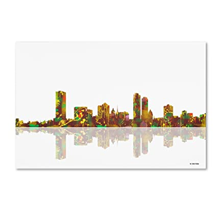amazon com milwaukee wisconsin skyline by marlene watson 30x47