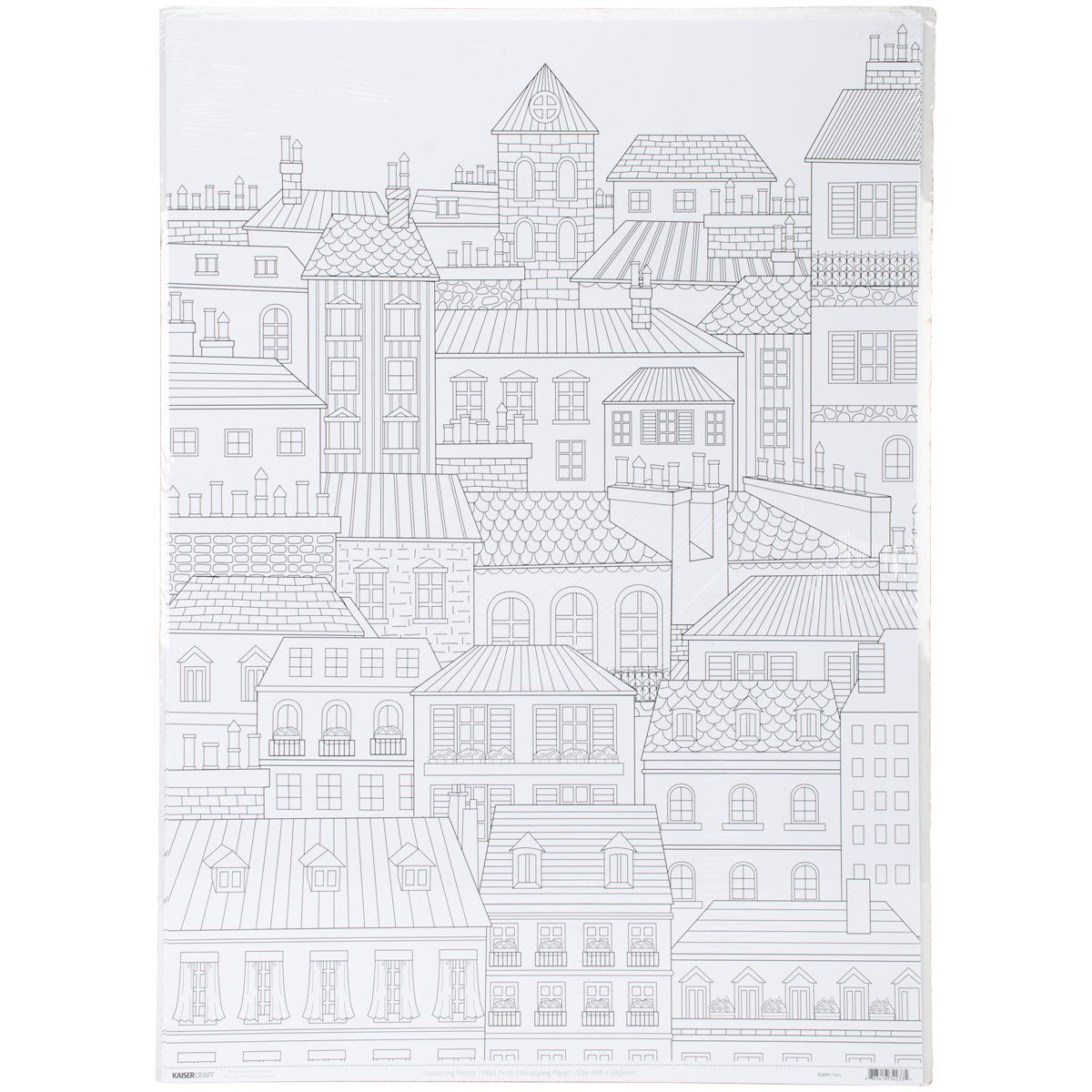 KaiserColour Coloring Poster 27''X19''-Paris