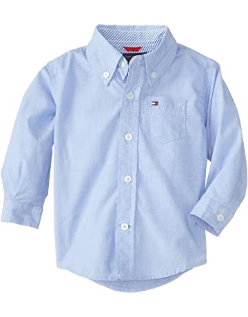 1143d73ad0 Tommy Hilfiger Boys' Long Sleeve Solid Woven Shirt