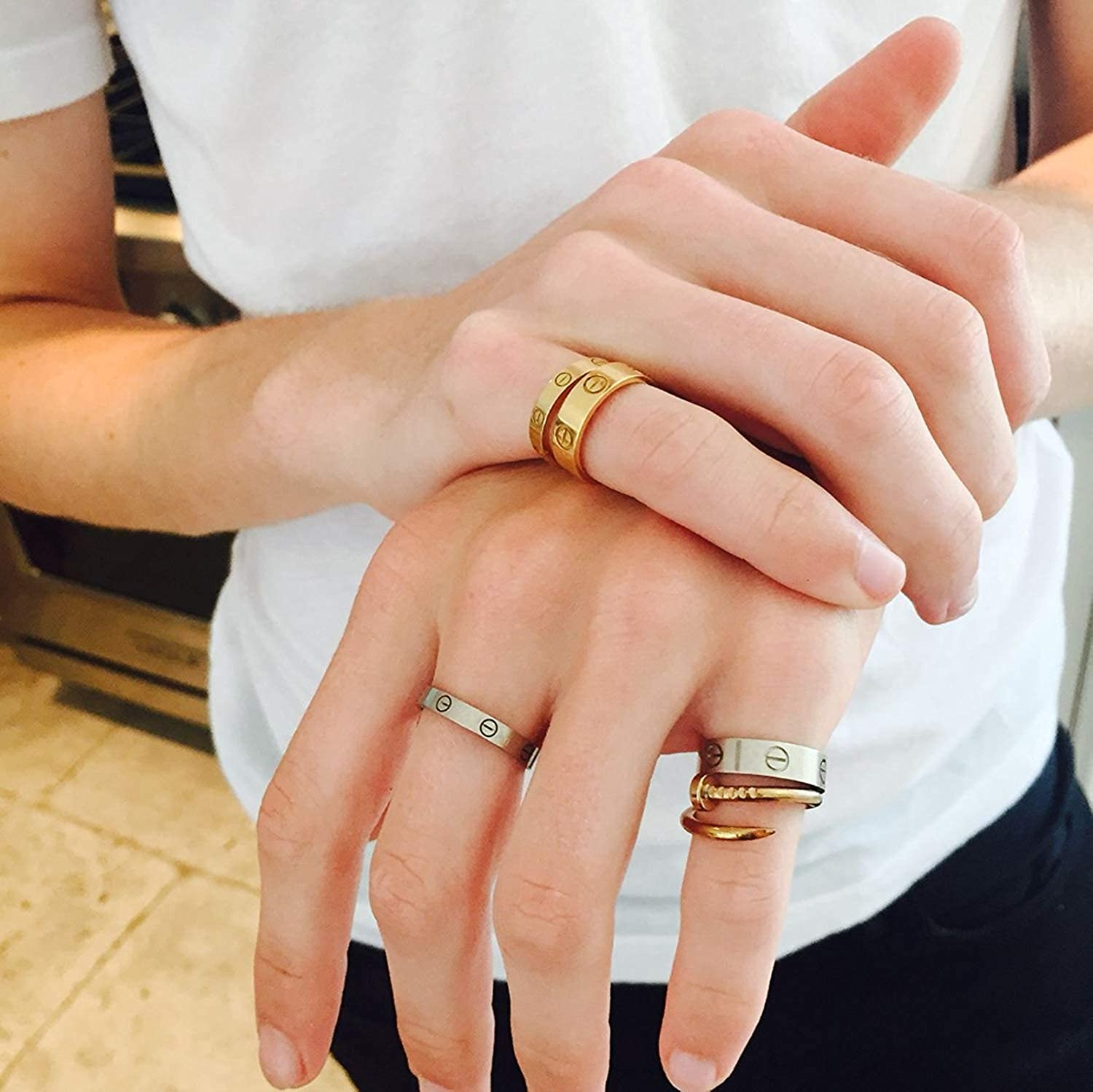 How to style cartier love ring