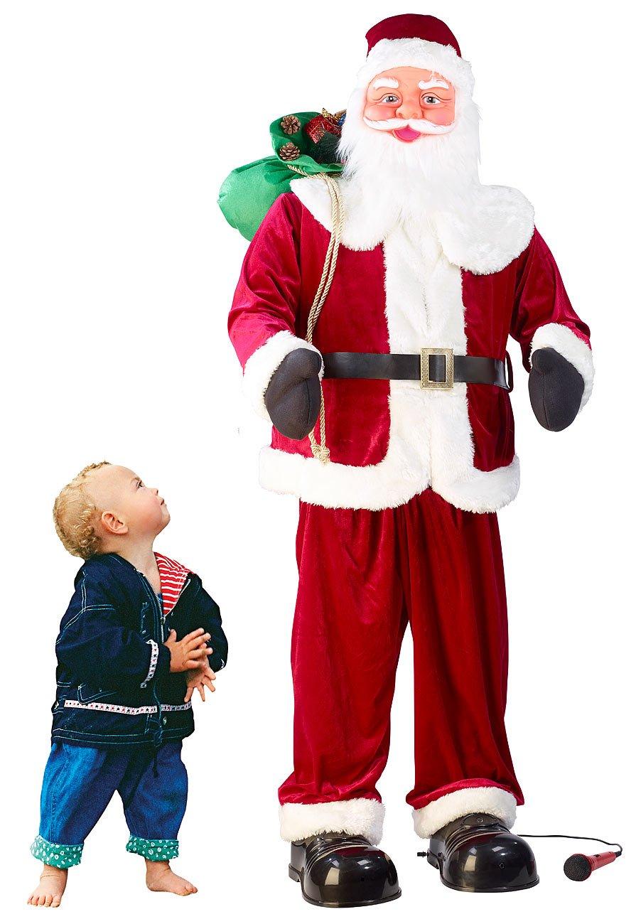 Infactory Weihnachtsartikel  Singender und tanzender XXL-Weihnachtsmann mit Karaoke, 160 cm (Weihnachtsmann singt und tanzt)