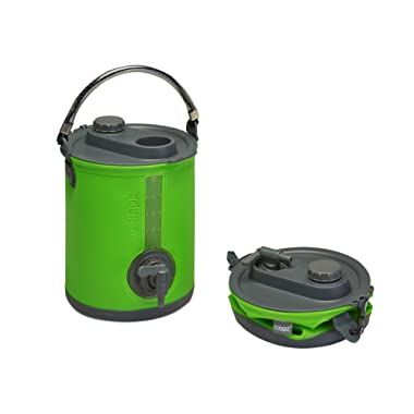Colapz 2-in-1 Collapsible Water Container - Camping Water Carrier - Campervan Bucket - Water Dispenser with Tap