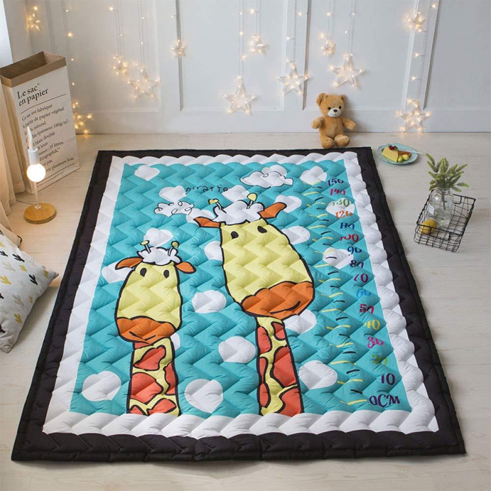 Baby Krabbeln Matte Verdicken Vier Jahreszeiten Spielmatte Carpet Kind Game Pad Decke Picknick Matte, Unterhaltung, Rutschfeste, Weißhe 145  195 Cm,E E