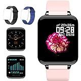 (2021 Nuevo) Reloj Deportivo, Sendowtek Reloj Inteligente para Android y iOS Móvil, con Monitor de Frecuencia Cardíaca y Pres