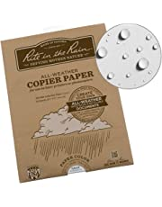 """Rite in the Rain Weatherproof Laser Printer Paper, 8 1/2"""" x 11"""", 20# Gray Colored Printer Paper, 50 Sheet Pack (No. 8511GY-50)"""