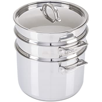 Amazon Com Viking 3 Ply Stainless Steel Pasta Pot With