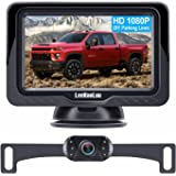 LeeKooLuu LK3 HD 1080P Backup Camera with Monitor Kit OEM Driving Hitch Rear/Front View Observation System for Cars,Trucks,Va