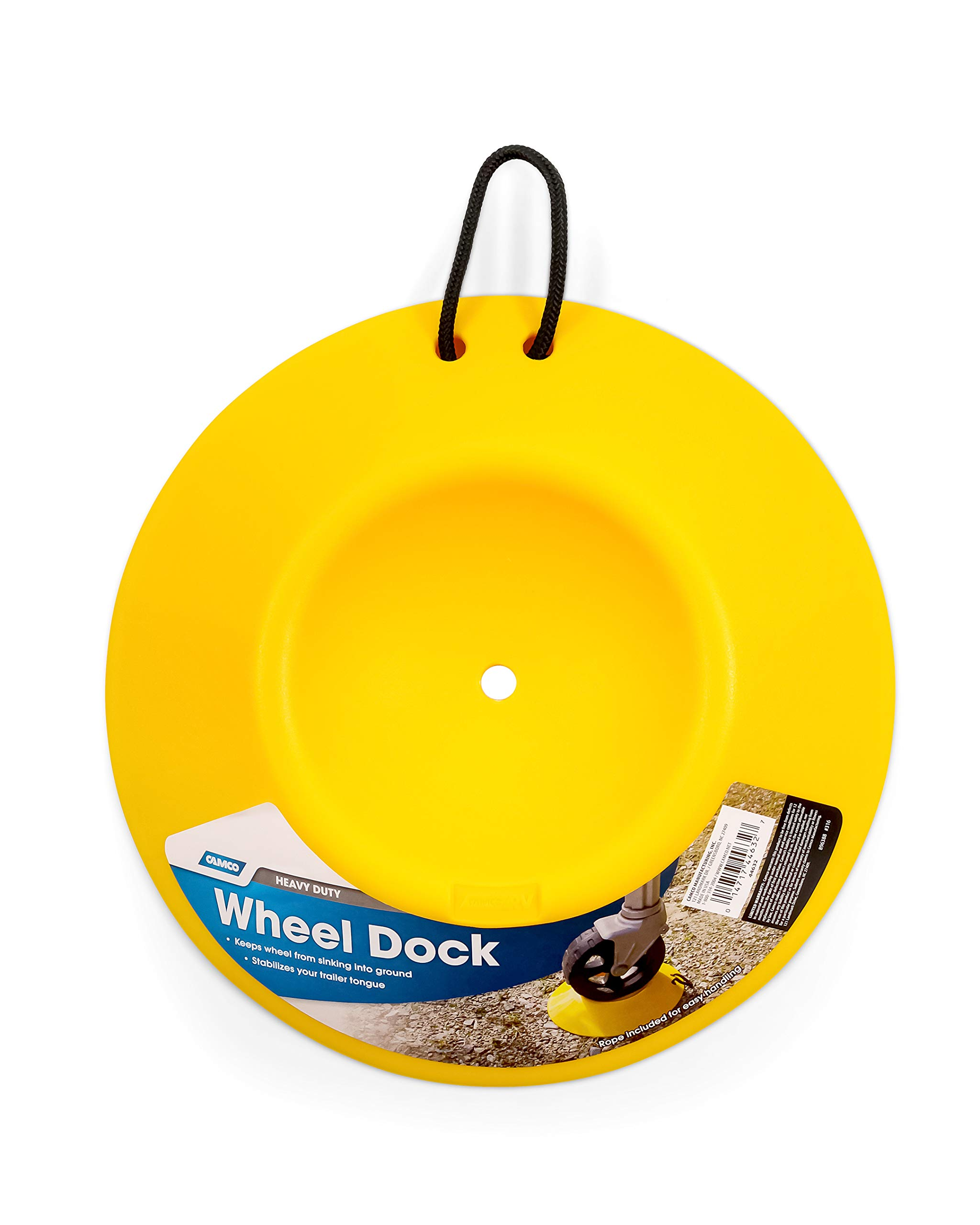 Camco Heavy Duty Wheel Dock with Rope Handle - Helps Prevent Trailer Wheel from Sinking Into Dirt or Mud, Easy to Store and Transport (44632) by Camco (Image #3)